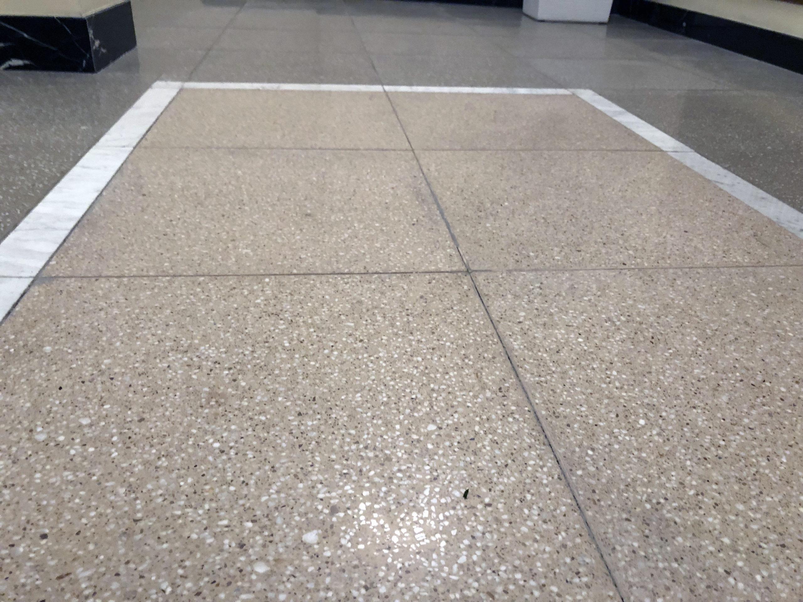 Московская государственная академическая филармония - работа по укладке плитки терраццо