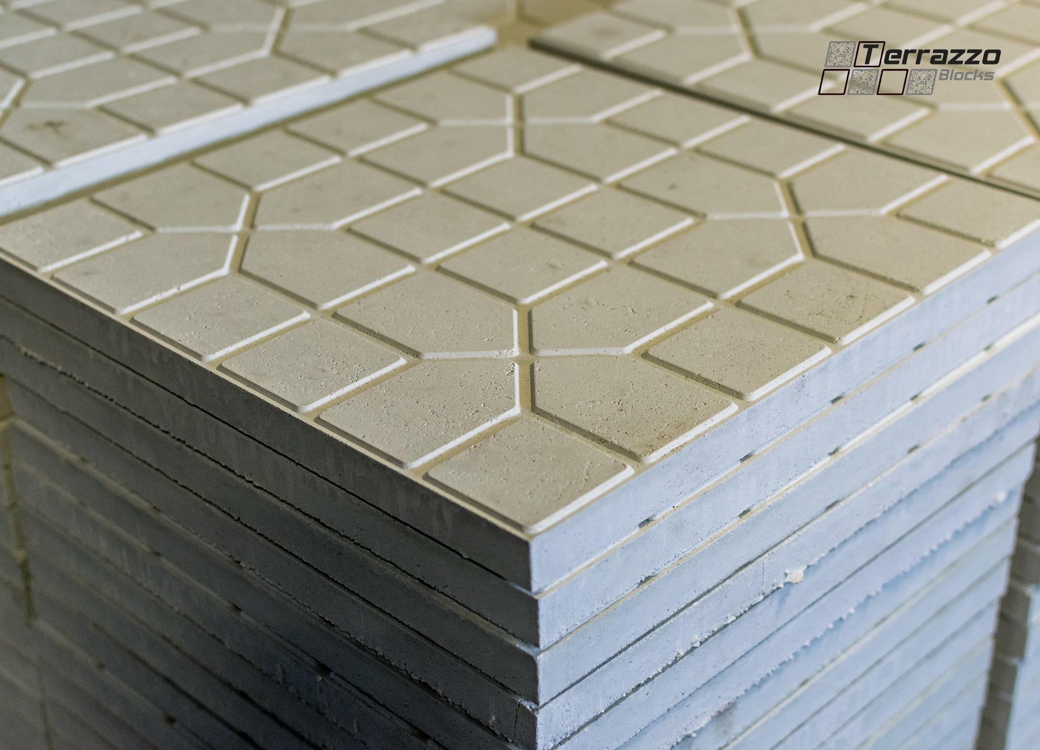Производство терраццо - плитка без полировки