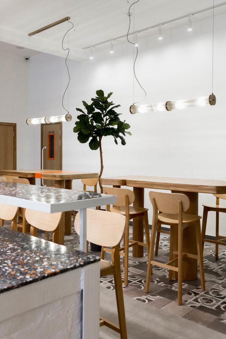 Плитка терраццо в Кафе Кофемолка