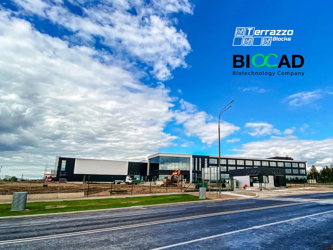 Выполненный проект с использованием мозаичной плитки терраццо | BIOCAD